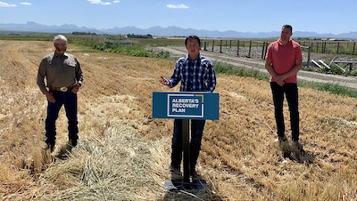 Picture of grant announcement in United Irrigation District